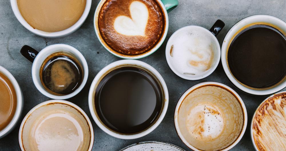 verschiedene Caféspezialitäten für jeden Geschmack