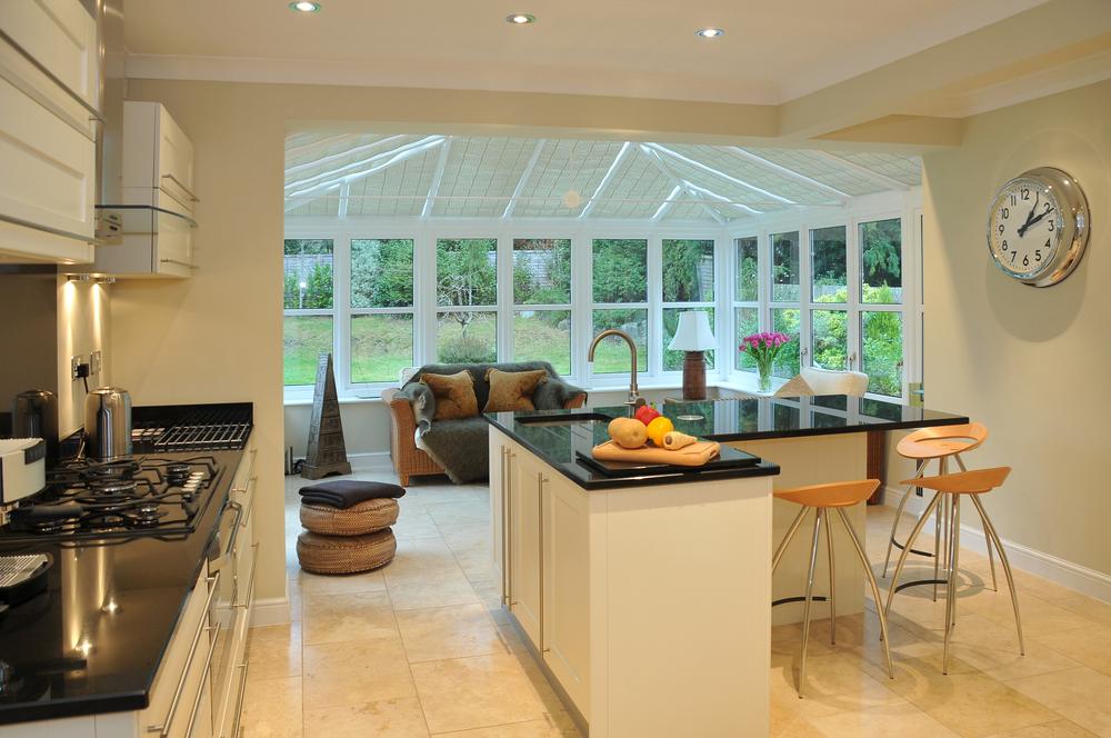 Ein Wintergarten als Erweiterung der Küche