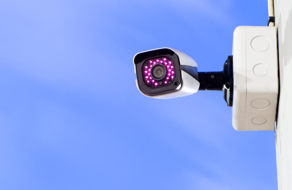 Überwachungskamera an der Hauswand