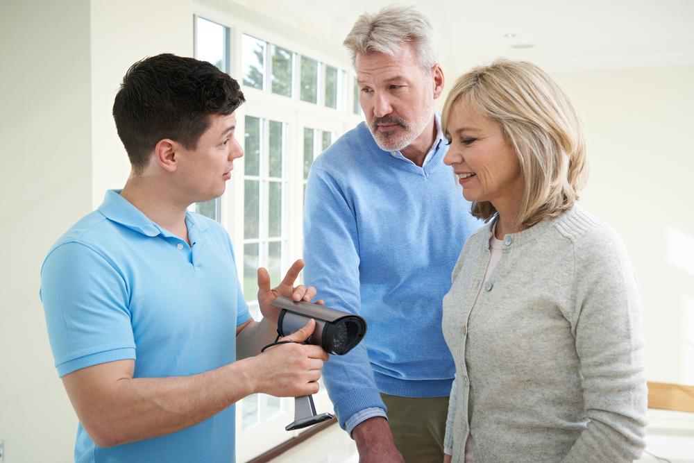 Beratung, Ehepaar, Überwachungssystem